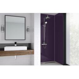 Purple Gloss Bathroom Shower Panel
