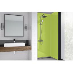 Lime Gloss Bathroom Shower Panel