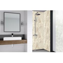 Natural Statuario Bathroom Shower Panel