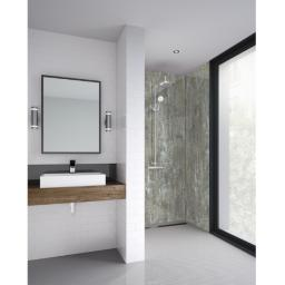 Light Wood Bathroom Shower Panel
