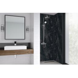 Black Statuario Bathroom Shower Panel