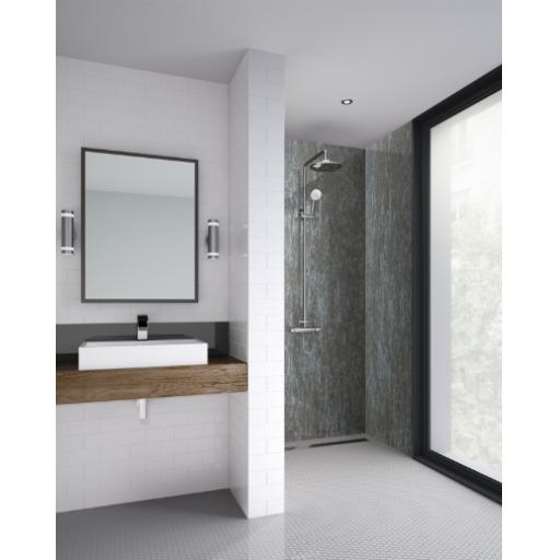 Silver Alloy Bathroom & Shower Wall Panel