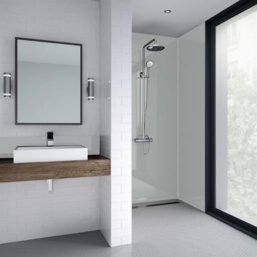 Light Grey Acrylic Shower Panel