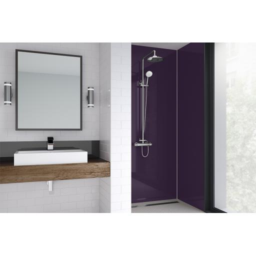 Purple Gloss Bathroom Shower Panel