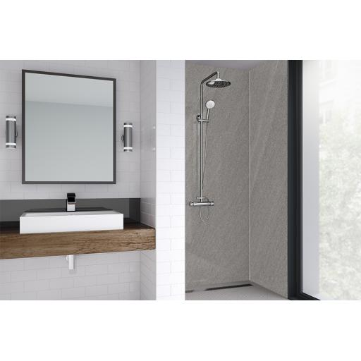 Rossano Sand Bathroom & Shower Wall Panel