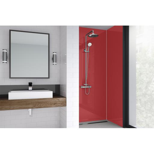 Red Gloss Bathroom & Shower Wall Panel
