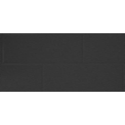 Brushed Black Tile Effect Composite Panel - 2400mm x 1200mm x 3mm
