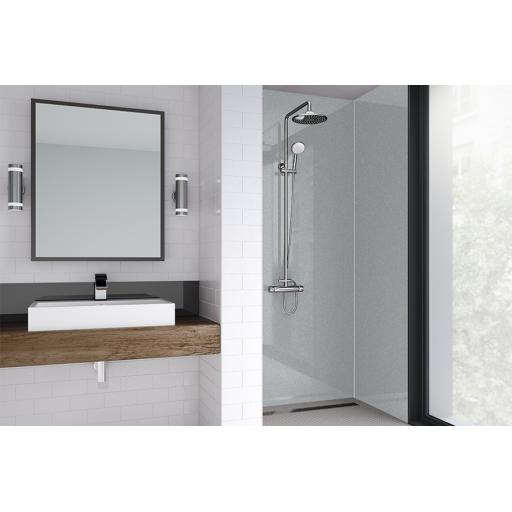 Sterling Silver Acrylic Shower Panel