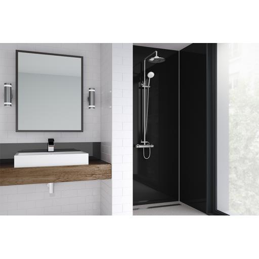 Jet Acrylic Shower Panel