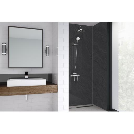Sicilian Slate Natural Bathroom & Shower Wall Panel