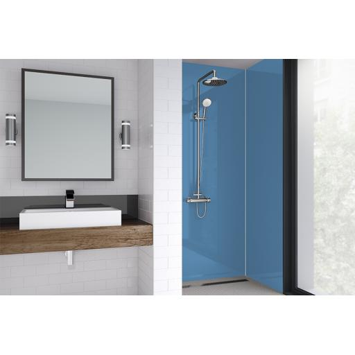 Skye Blue Acrylic Bathroom Shower Panel - 4mm Gloss or Matt