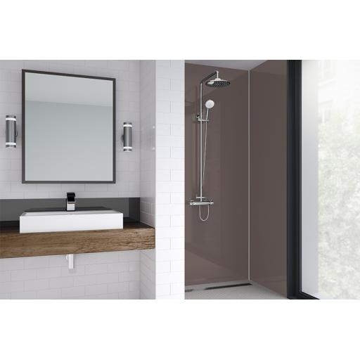 Mocha Acrylic Bathroom Shower Panel - 4mm Gloss or Matt