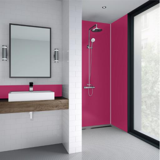 Pink Acrylic Bathroom Shower Panel - 4mm Gloss or Matt