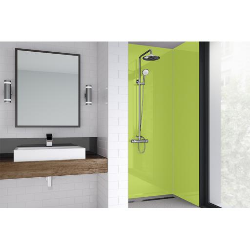 Lime Gloss Bathroom & Shower Wall Panel