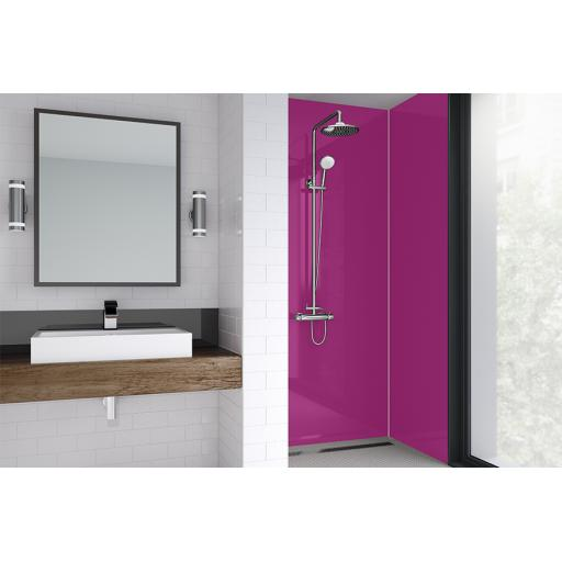 Fuchsia Gloss Bathroom & Shower Wall Panel