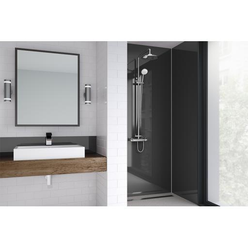 Black Gloss Bathroom & Shower Wall Panel