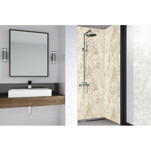 Natural Statuario Bathroom & Shower Wall Panel
