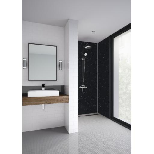 Galaxy Black Bathroom & Shower Wall Panel