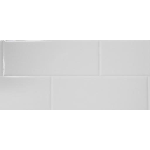 White Tile Effect Composite Panel - 2400mm x 1200mm x 3mm
