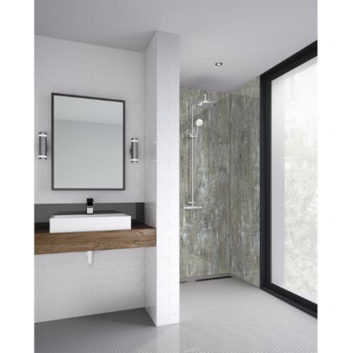 Light Wood Bathroom Shower Panel