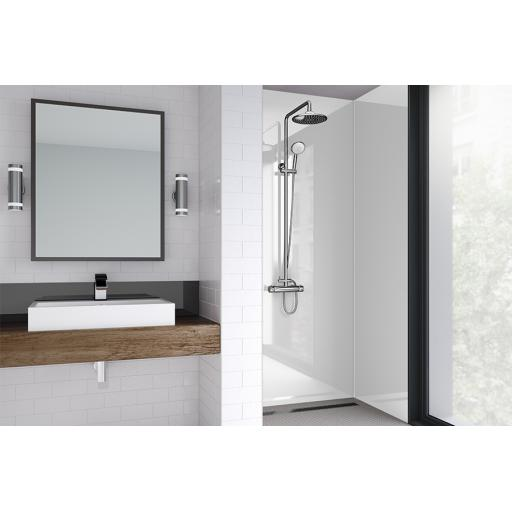 Arctic Breeze Acrylic Bathroom Shower Panel - 4mm Gloss or Matt
