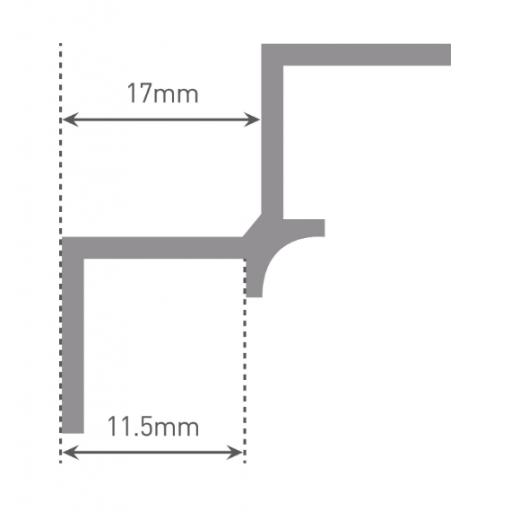 Wetwall Internal Corner Cross Section