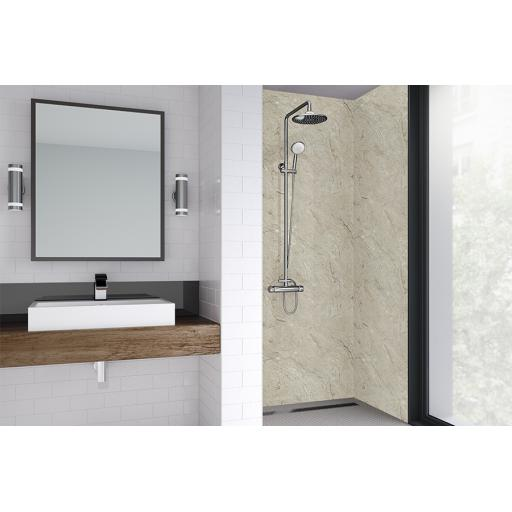 Grey Statuario Bathroom & Shower Wall Panel