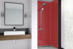 Red Gloss Bathroom Shower Panel