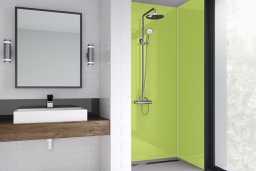 Lime Green Acrylic Shower Panel