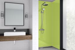 Lime Green Acrylic Shower Panel
