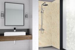 Cream Statuario Bathroom Shower Panel