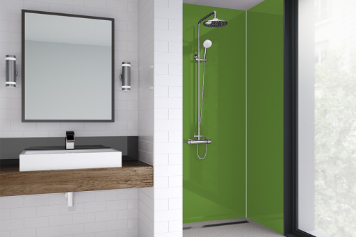 Olive Green Acrylic Shower Panel