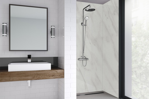 Carrara Marble Bathroom Shower Panel
