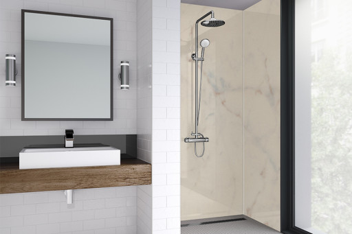 Med Marble Bathroom Shower Panel