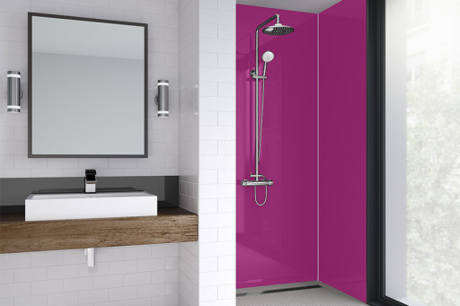 Fuchsia Bathroom Shower Panel