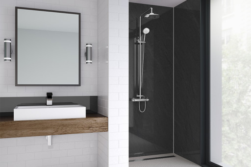Sicilian Slate Gloss Bathroom Shower Panel
